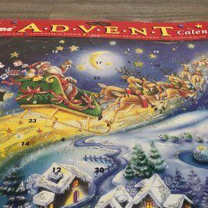 ADVENT - vintage NOS - cardboard advent calendar